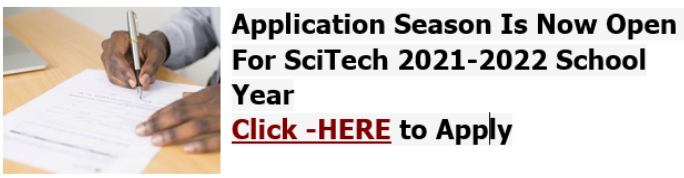 SciTech Campus Application for 21-22 Academic Year